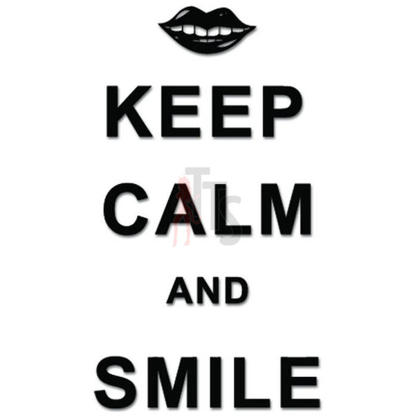 Keep Clam Smile Decal Sticker