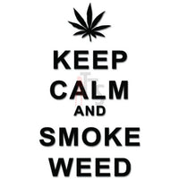 Keep Clam Smoke Weed Decal Sticker