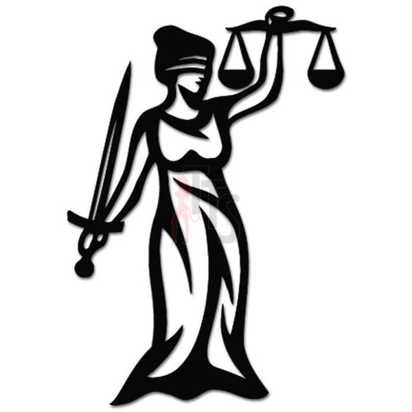 Law Statue Justice Sword Scale Decal Sticker