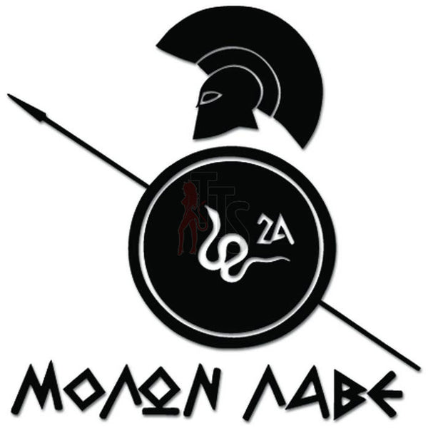 Molon Labe Spartan Warrior Shield Spear Decal Sticker