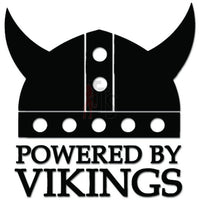 Powered By Vikings Swedish Decal Sticker