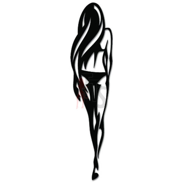 Sexy Bikini Girl Back Walking Decal Sticker