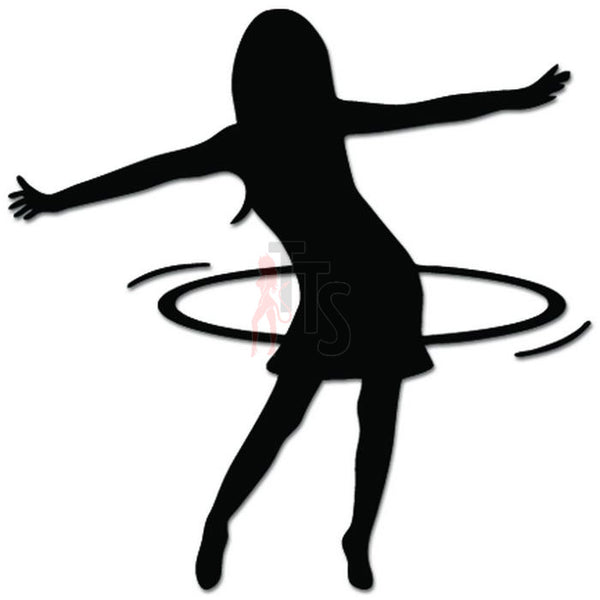 Girl Hoola Loop Decal Sticker