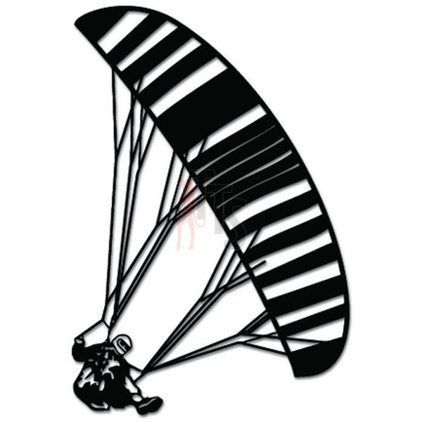 Paragliding Parachuting Skydiving Decal Sticker Style 1