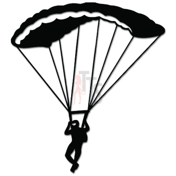 Paragliding Parachuting Skydiving Decal Sticker Style 2