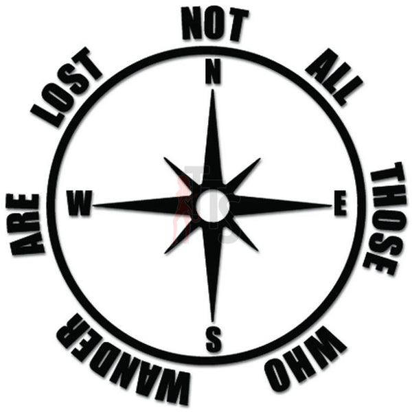 Rose Compass Wander Lost Decal Sticker Style 2