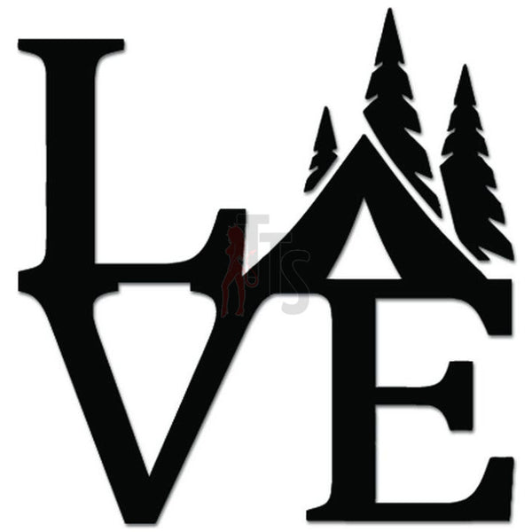 Love Camping Tent Outdoors Forest Decal Sticker