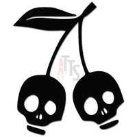 Death Skull Cherries Cherry Fruit Decal Sticker