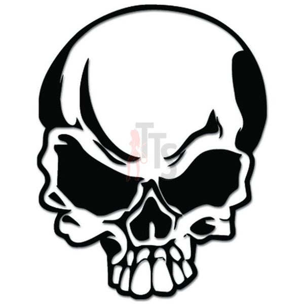 Death Skull Head Skeleton Bone Decal Sticker Style 1