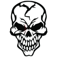 Death Skull Head Skeleton Bone Decal Sticker Style 2