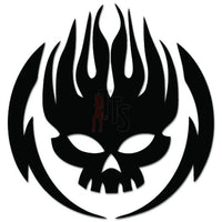 Death Skull Flame Decal Sticker