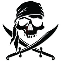 Pirate Death Skull Head Bone Decal Sticker