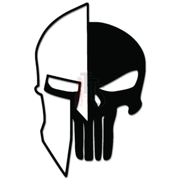 Spartan Helmet Death Skull Head Bone Decal Sticker