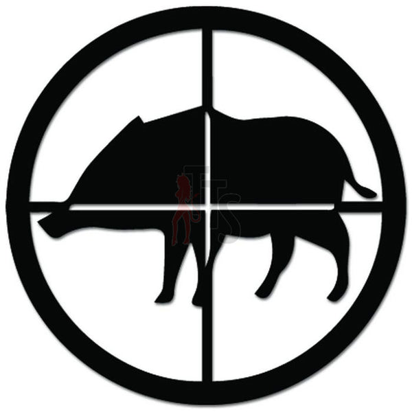 Crosshair Target Scope Boar Hunting Decal Sticker