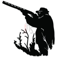 Duck Hunter Hunting Shotgun Decal Sticker Style 2
