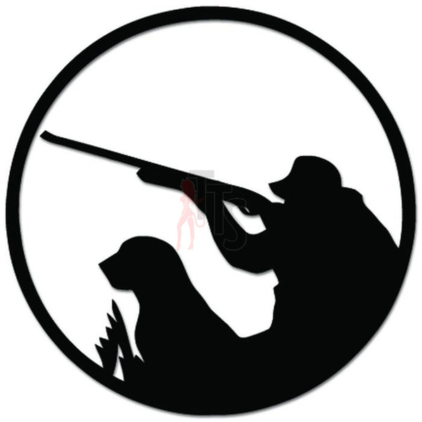 Duck Hunting Dog Rifle Decal Sticker