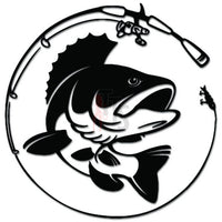Fishing Rod Fish Decal Sticker