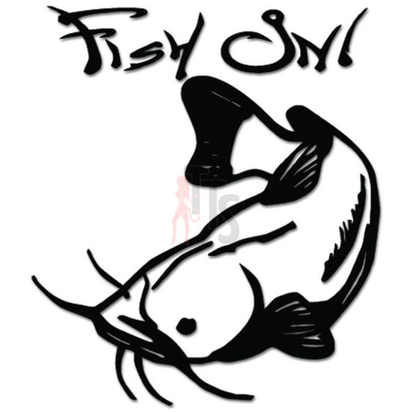Fish On Catfish Fishing Decal Sticker
