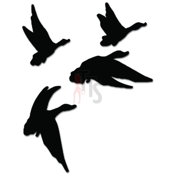 Flying Ducks Hunting Decal Sticker Style 3
