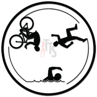 Triathlon Triathlete Circle Decal Sticker Style 2