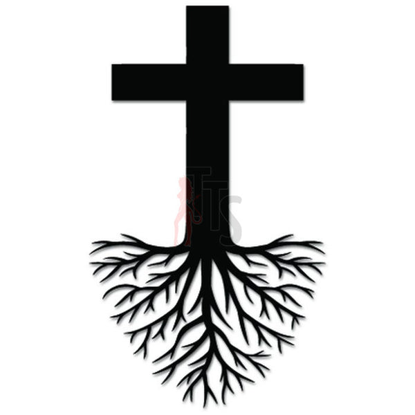 Cross Roots Jesus Christian Decal Sticker