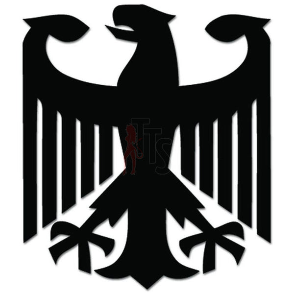 German Eagle Coat of Arms Decal Sticker Style 1