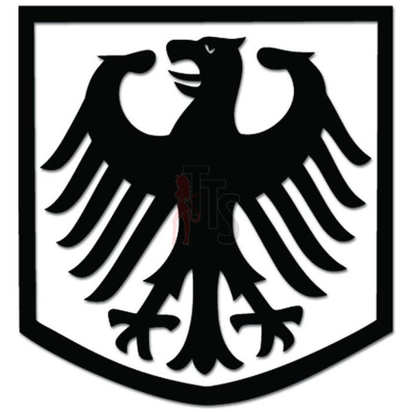 German Eagle Coat of Arms Decal Sticker Style 2