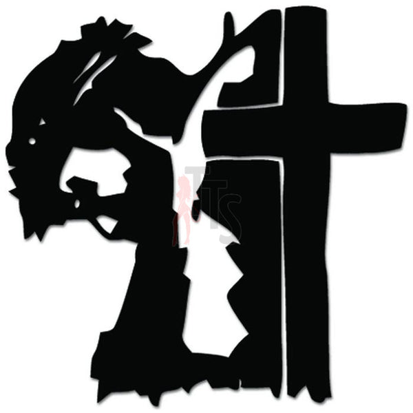 Jesus Cross Christian Catholic Decal Sticker
