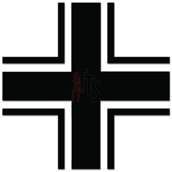 Luftwaffle Cross German Air Force Decal Sticker