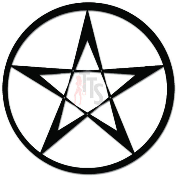 Pentagram Wiccan Satan Decal Sticker