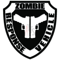 Zombie Response Vehicle Gun Pistol Decal Sticker