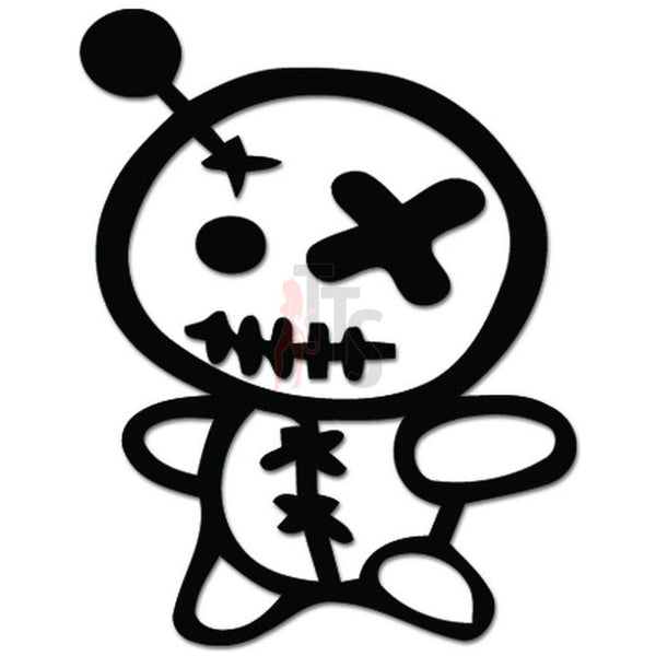 Zombie Voodoo Doll Witchcraft Decal Sticker