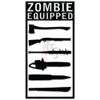 Zombie Equipped Weapons Decal Sticker