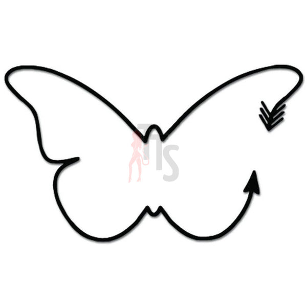 Butterfly Insect Arrow Decal Sticker