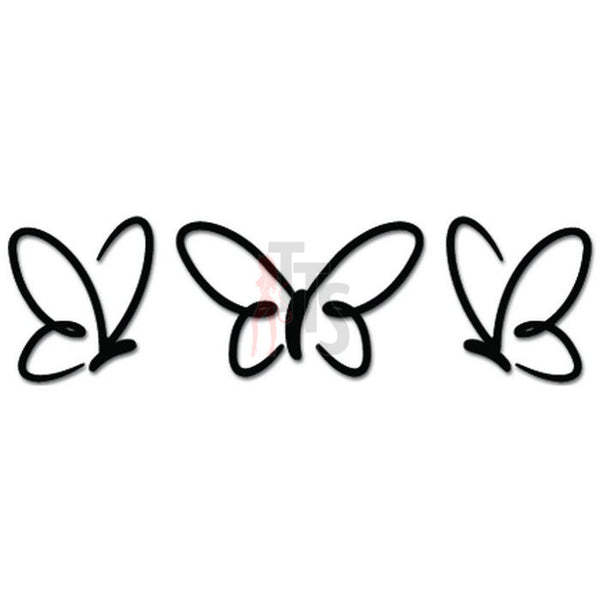 Cute Butterflies Butterfly Decal Sticker