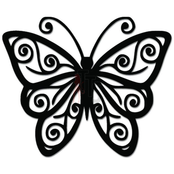 Butterfly Decorative Vine Decal Sticker