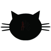 Cat Head Face Pet Decal Sticker Style 1