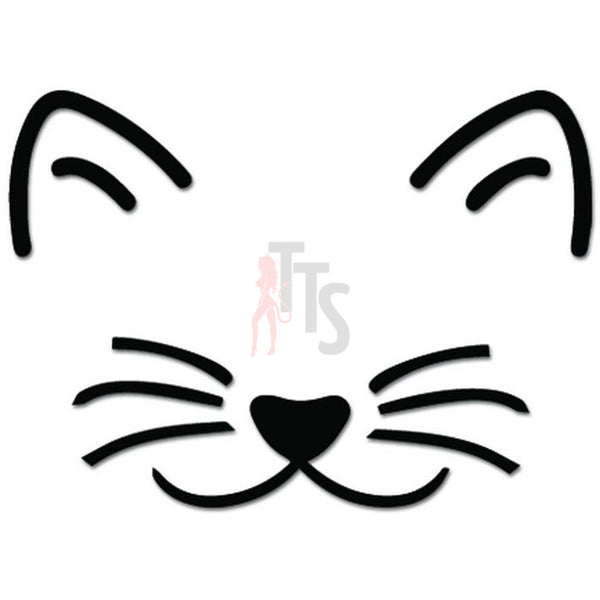 Happy Cat Head Face Pet Decal Sticker Style 2