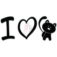 I Love Cat Kitty Decal Sticker