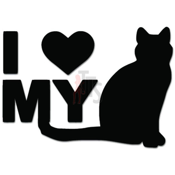 I Love My Cat Kitty Pet Lover Decal Sticker