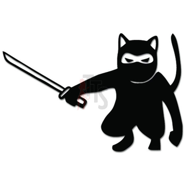 Cat Ninja Warrior Pet Kitty Decal Sticker