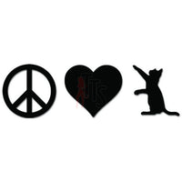 Love Peace Cat Pet Decal Sticker