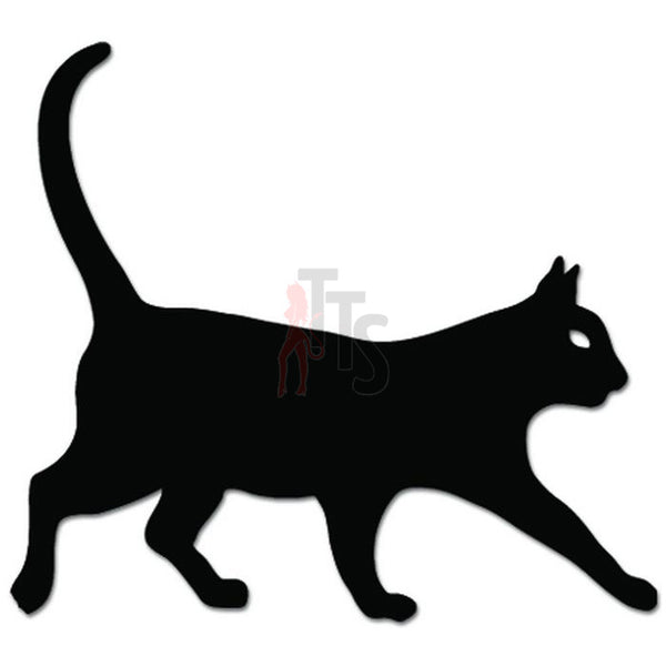House Cat Kitty Walking Decal Sticker
