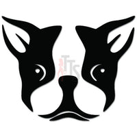 Boston Terrier Face Dog Puppy Decal Sticker