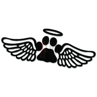 Dog Angel Wings Paw Halo Heaven Decal Sticker