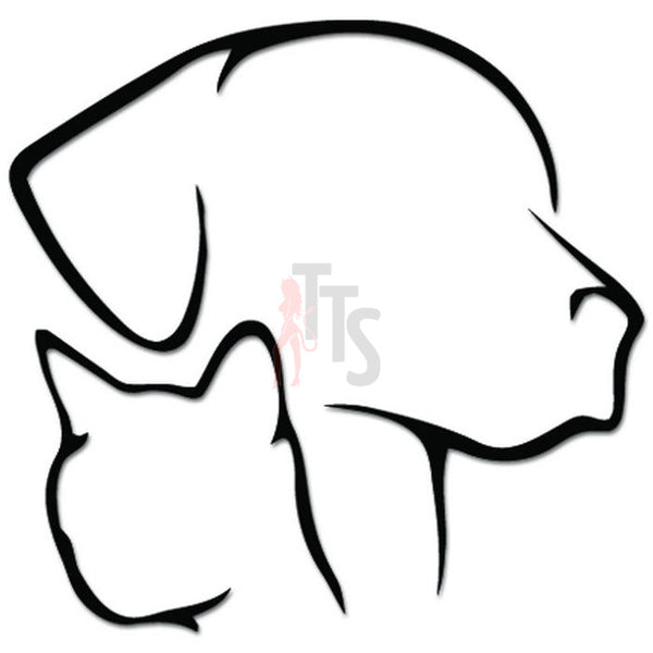 Dog Cat Head Face Pet Lover Decal Sticker
