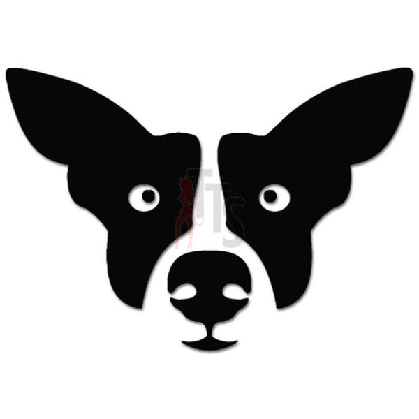 Cute Dog Face Drawing Pet Lover Decal Sticker