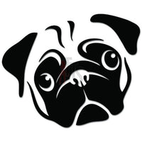 Cute Pug Dog Puppy Face Pet Lover Decal Sticker