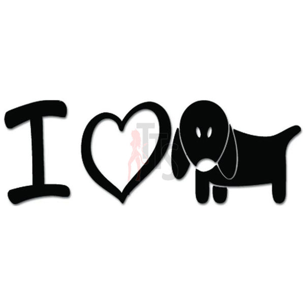 I Love Dog Pet Lover Decal Sticker