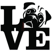 Love Dog Pug Pet Lover Decal Sticker